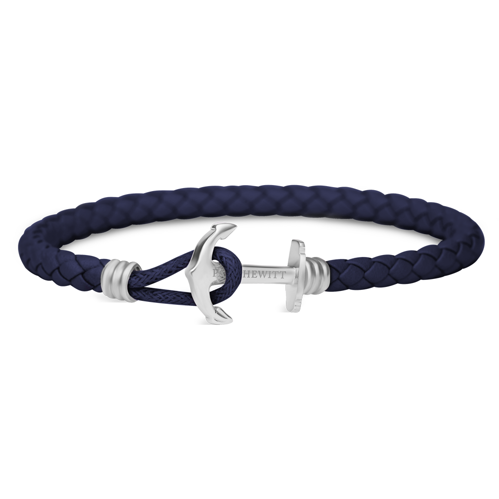 Paul Hewitt-Anchor Bracelet PHREP Lite Steel Navy Blue-Jewellery-THE UNIT STORE