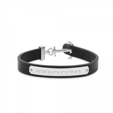 Paul Hewitt-Anchor Signum Coordinates Stainless Steel Black W-Jewellery-THE UNIT STORE