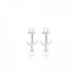 Paul Hewitt-Earring Anchor Pearl Stainless Steel Pearl-Jewellery-PH-ER-ND-S-P-THE UNIT STORE