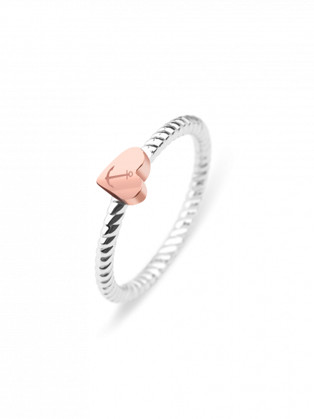 Ring Rope Anchor Love IP Rosegold / Steel__Paul Hewitt_Jewellery_THE UNIT STORE