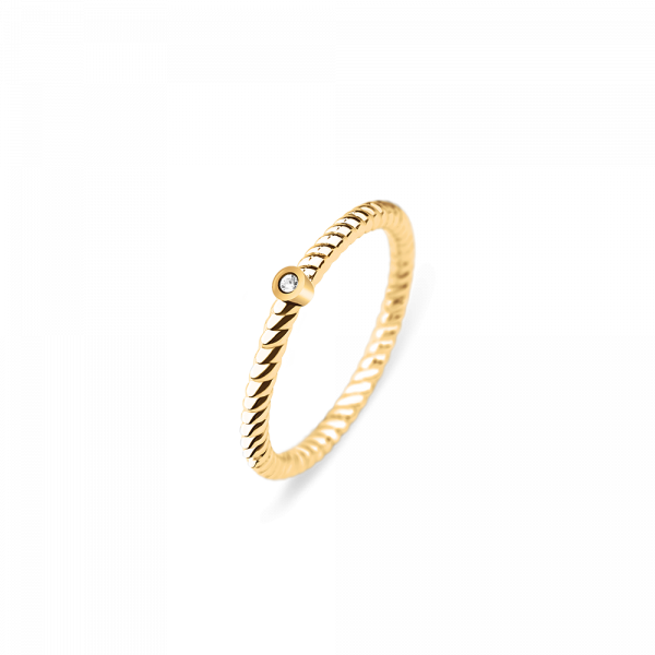 Ring Rope North Star IP Gold__Paul Hewitt_Jewellery_THE UNIT STORE