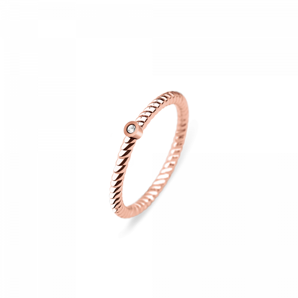 Paul Hewitt-Ring Rope North Star IP Rose Gold-Jewellery-THE UNIT STORE
