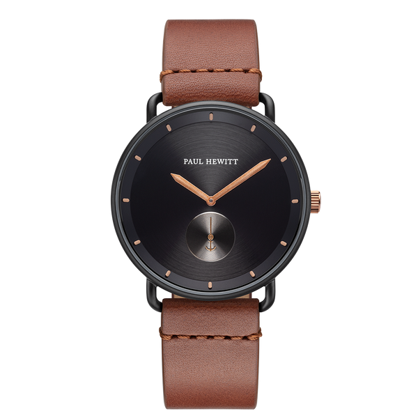 Watch Breakwater Line Black IP Bronze Lea. Brown
