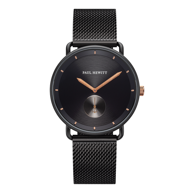 Watch Breakwater Line Black IP Bronze Mesh Black