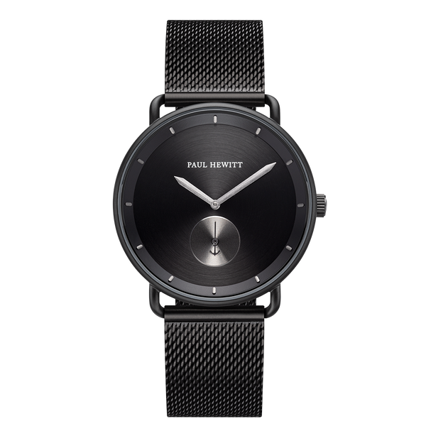 Watch Breakwater Line Black IP Gun Metal Mesh