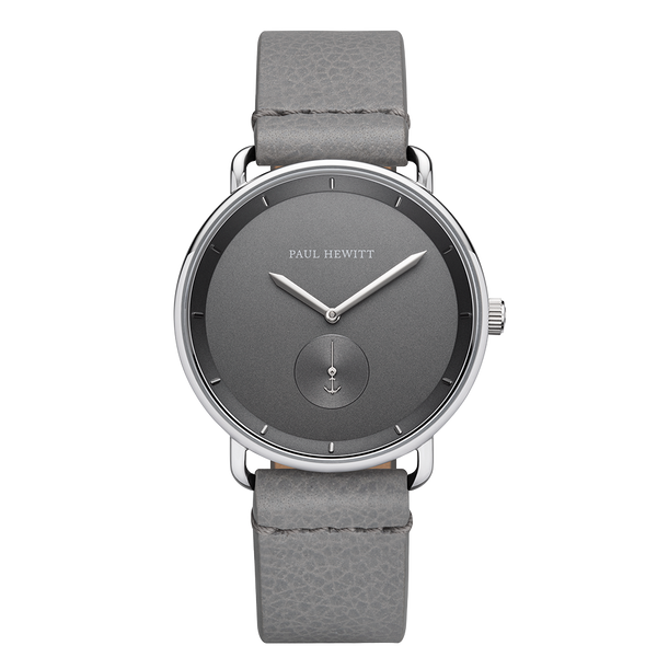 Watch Breakwater Line Iron Gray S.S Leather Gray