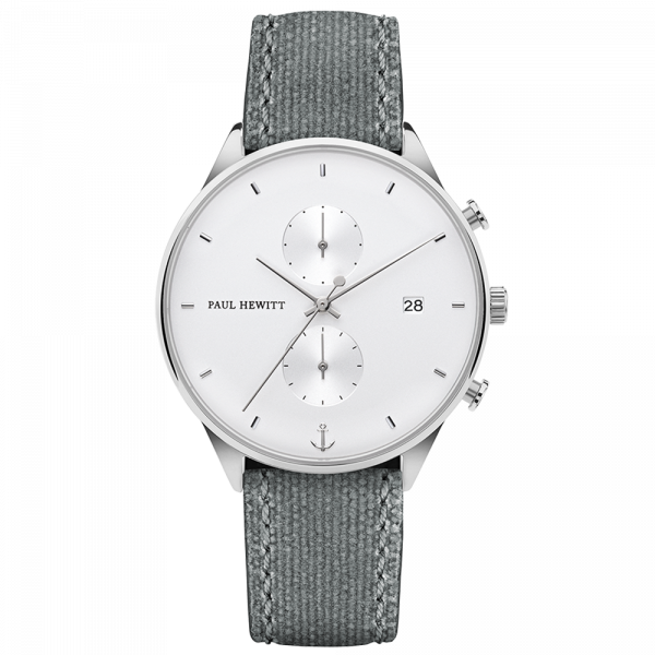 Paul Hewitt-Chrono Line White Sand Steel Canvas Grey-Watch-PH-C-S-W-51M-THE UNIT STORE