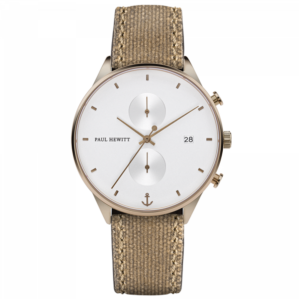 Paul Hewitt-Chrono Line White Sand IP Bronze Desert-Watch-PH-C-Br-W-47M-THE UNIT STORE