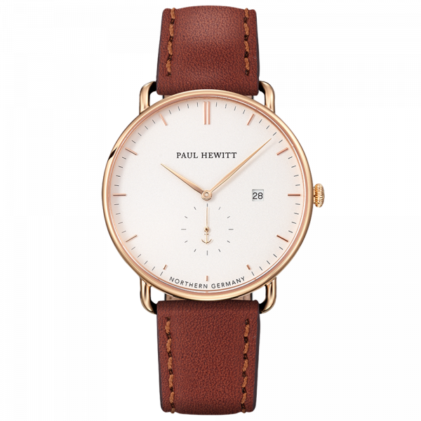 Grand Atlantic Line White Sand GD Leather Brown__Paul Hewitt_Watch_THE UNIT STORE
