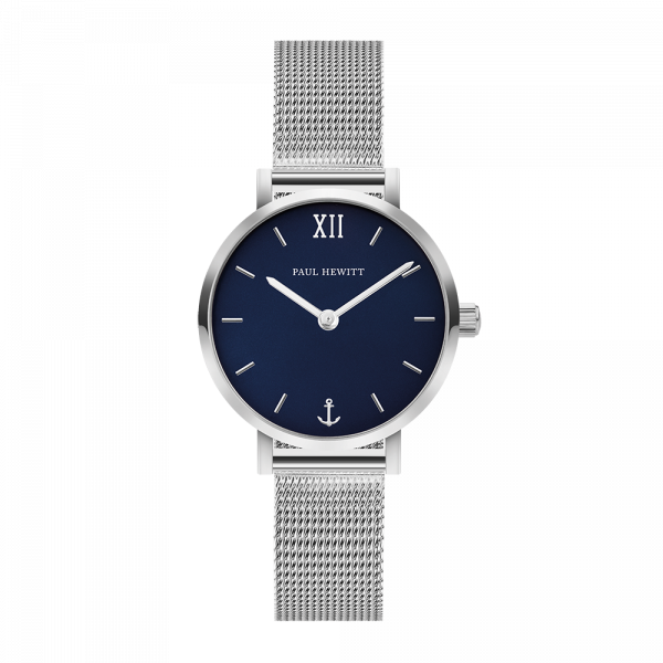 Paul Hewitt-Sailor Line Modest Blue Lagoon Steel Mesh-Watch-PH-SA-S-XS-B-45S-THE UNIT STORE