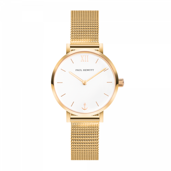 Paul Hewitt-Sailor Line Modest White Sand IP G Mesh-Watch-PH-SA-G-XS-W-45S-THE UNIT STORE