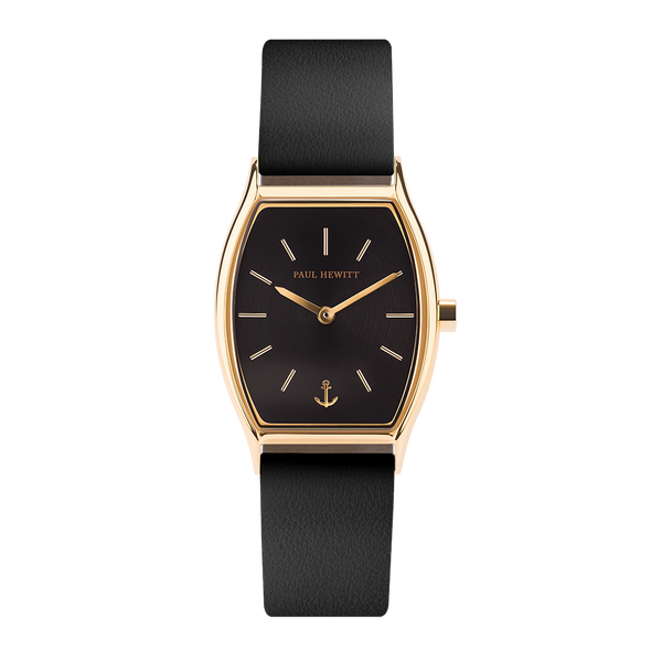 Paul Hewitt-Modern Edge Line BLK IP Gold Leather BLK-Watch-PH-T-G-BS-32S-THE UNIT STORE