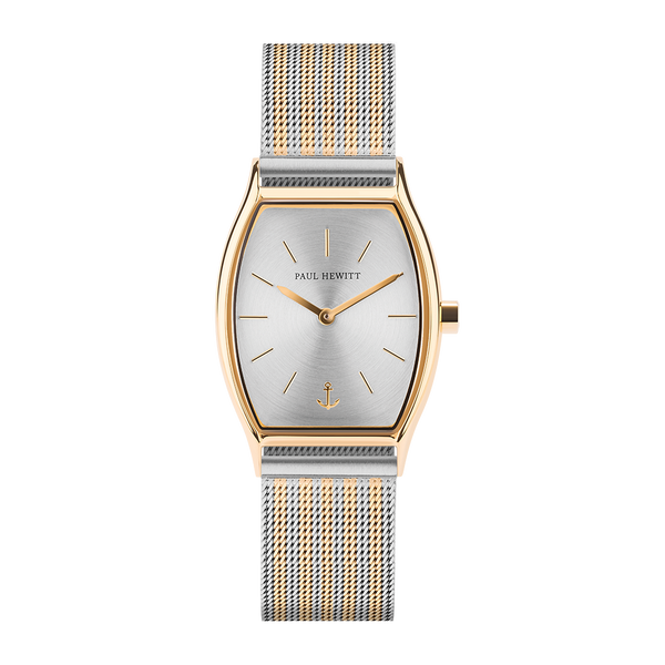 Paul Hewitt-Modern Edge Line Silver IP G Mesh Bicolor-Watch-PH-T-G-SS-44S-THE UNIT STORE