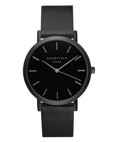 Rosefield-The Gramercy Black Black Black-Watch-RF-GBBB-G38-THE UNIT STORE