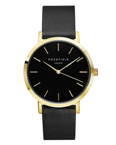 Rosefield-The Gramercy Black Black Gold-Watch-RF-GBBLG-G36-THE UNIT STORE