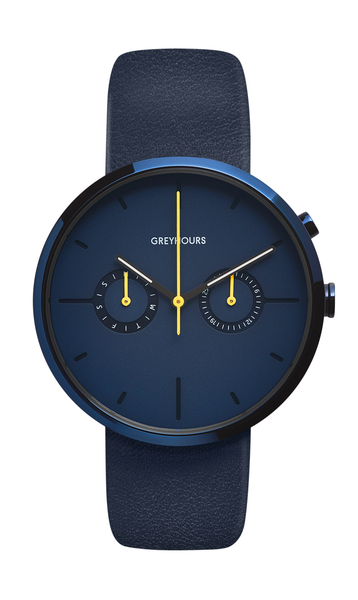 Greyhours-VISION SHINE ELECTRON BRIGHT BLUE Case BLUE Dial-Watch-GH0110000265-THE UNIT STORE