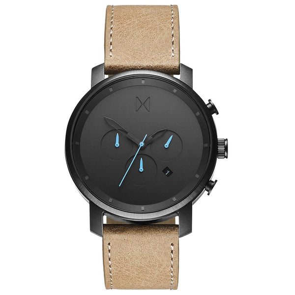 MVMT-Mens Chrono Gunmetal Sandstone 45 mm-Watch-D-MC01GML-THE UNIT STORE