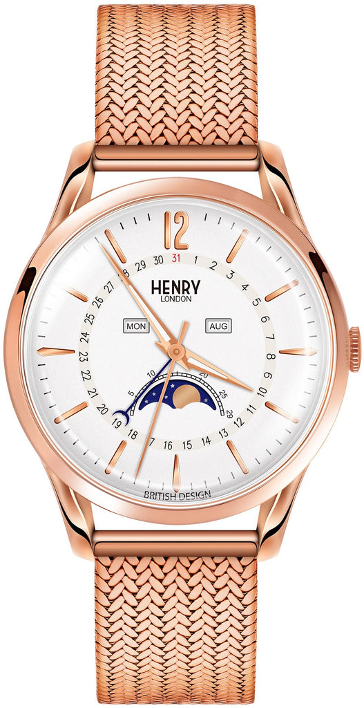 HENRY LONDON-Richmond - 39mm moonphase bracelet-Watch-HL39-LM-0162-THE UNIT STORE