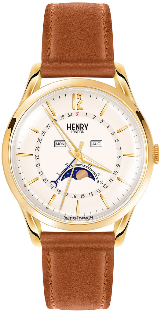 HENRY LONDON-Westminster - 39mm moonphase strap-Watch-HL39-LS-0148-THE UNIT STORE