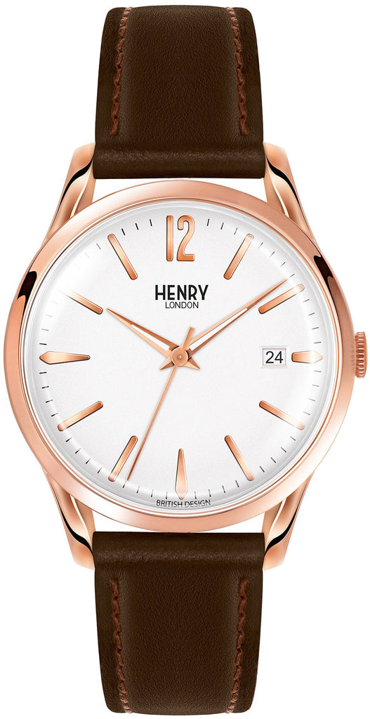 HENRY LONDON-Richmond - 39mm analogue strap-Watch-HL39-S-0028-THE UNIT STORE