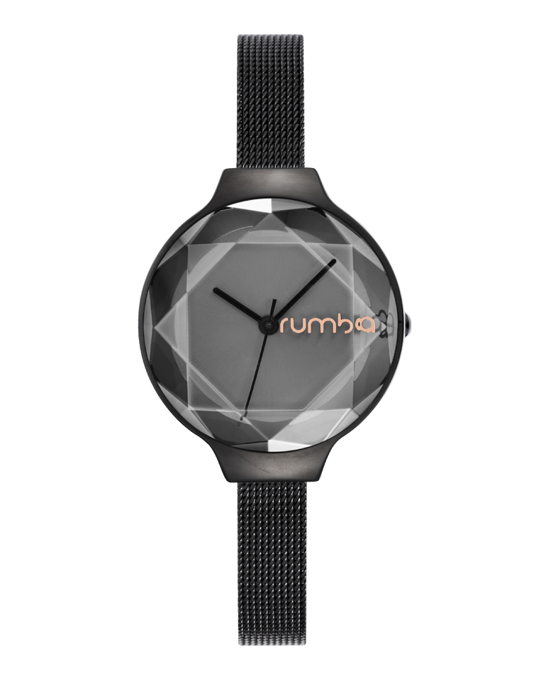 Rumba-Orchard Gem Mesh Black Diamond-Watch-24340-THE UNIT STORE