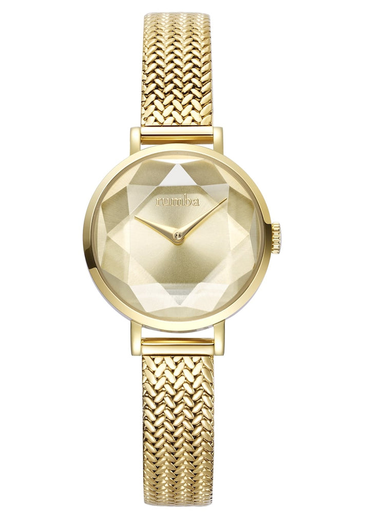 Rumba-Hudson Gem Weave Gold-Watch-27501-THE UNIT STORE
