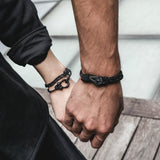 Kalymnos / Black Patterned Matte Bracelet
