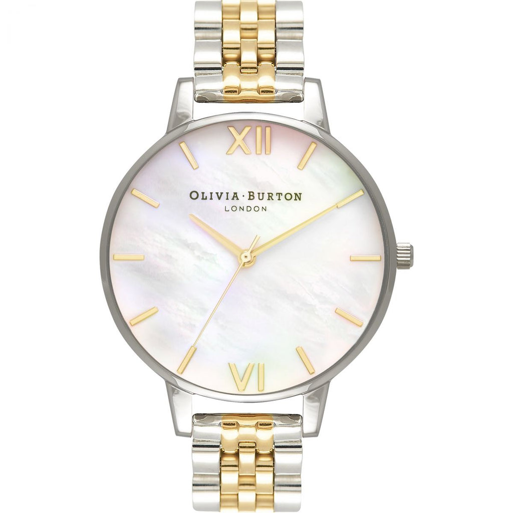 OLIVIA BURTON-Mother of Pearl Bracelet White Gold & Silver-Watch-OB16MOP05-THE UNIT STORE