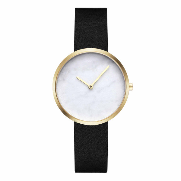Maven-Leaking Dawn White/Gold/Black Leather/34mm-Watch-WU MV1002LGPWBK-THE UNIT STORE