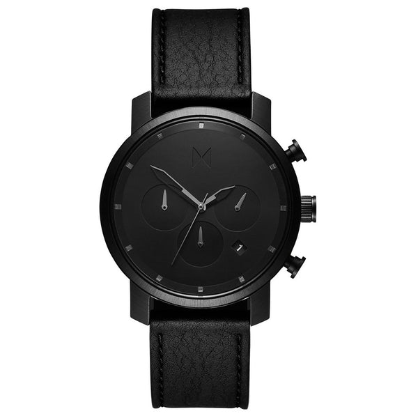 MVMT-Mens Chrono 40 Black Leather 40 mm-Watch-D-MC02-BLBL-THE UNIT STORE