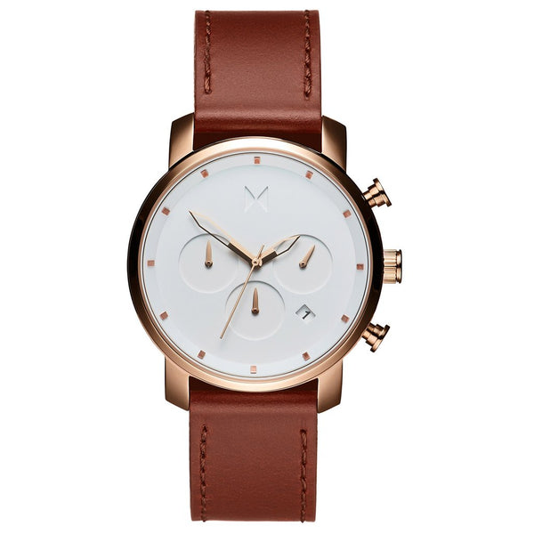 MVMT-Mens Chrono Rose Gold Natural Tan 45 mm-Watch-D-MC01-RGDBR-THE UNIT STORE