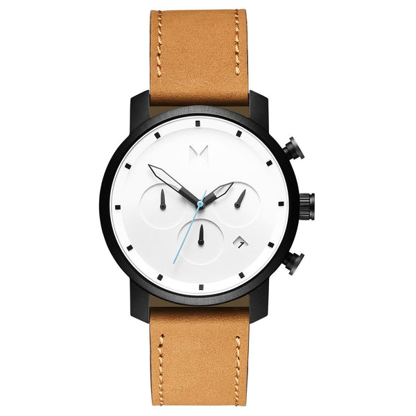 MVMT-Mens Chrono 40 White Black Tan 40 mm-Watch-D-MC02-WBTL-THE UNIT STORE