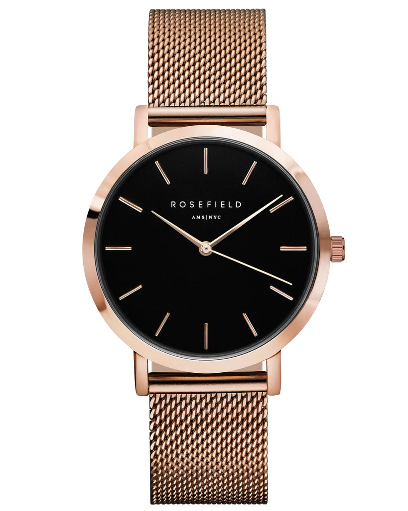 Rosefield-The Mercer Black Rose Gold-Watch-RF-MBR-M45-THE UNIT STORE