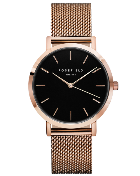Rosefield The Mercer Black Rose Gold RF-MBR-M45