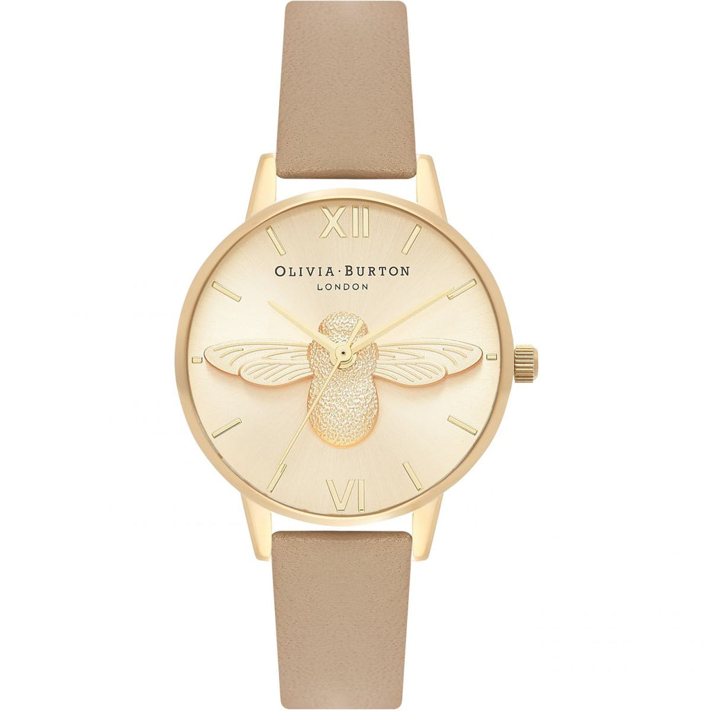 OLIVIA BURTON-3D Bee Sand & Gold-Watch-OB16AM150-THE UNIT STORE