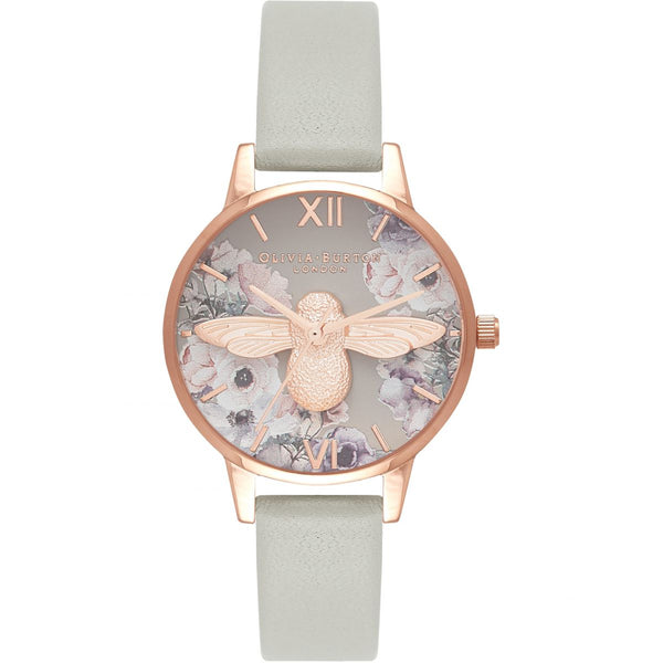 OLIVIA BURTON-Watercolour Florals Grey & RG-Watch-OB16PP43-THE UNIT STORE