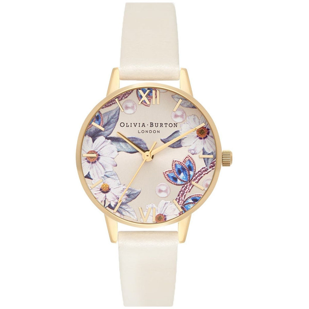 OLIVIA BURTON-Bejewelled Florals Vegan Nude & Gold-Watch-OB16BF14-THE UNIT STORE