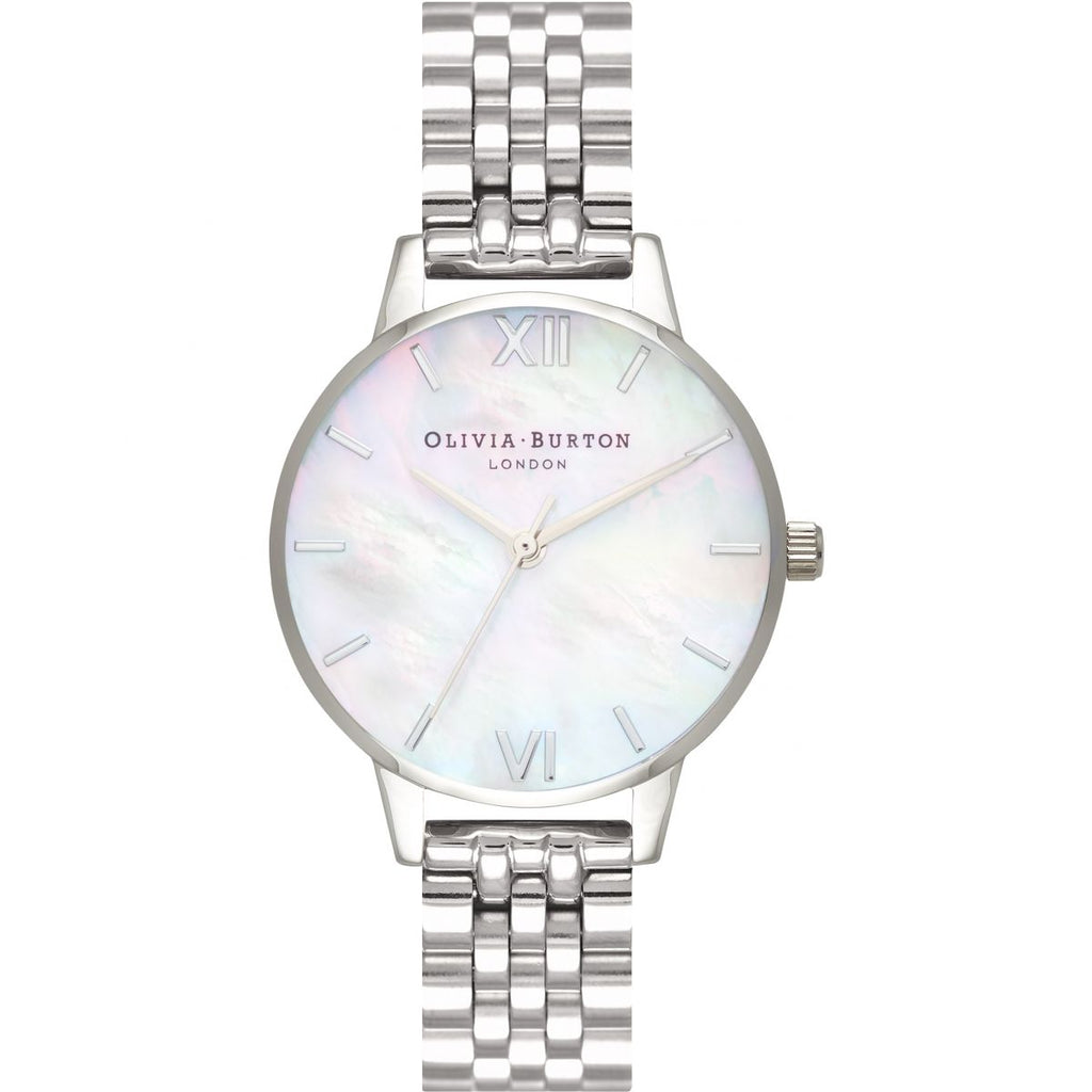 OLIVIA BURTON-Mother of Pearl Bracelet White & Silver-Watch-OB16MOP02-THE UNIT STORE