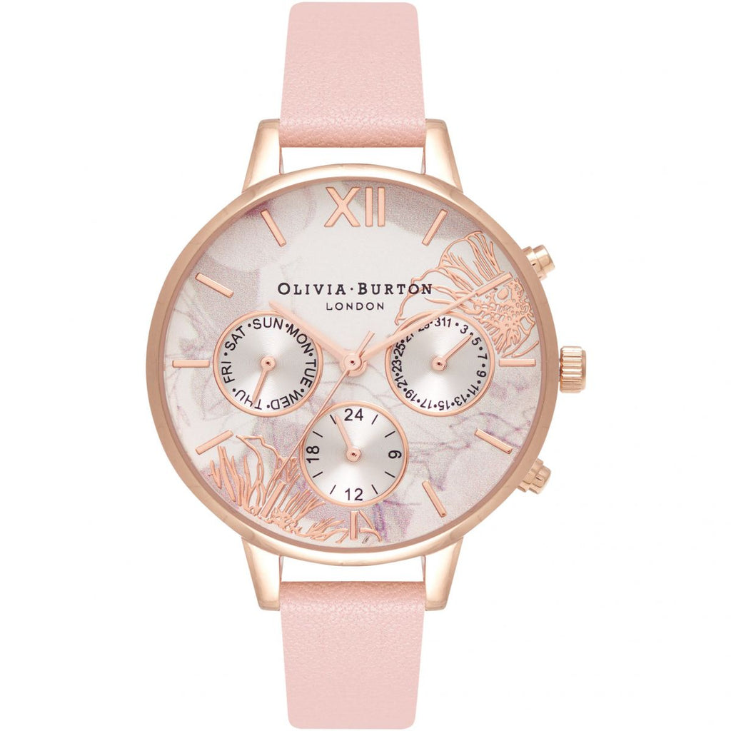 OLIVIA BURTON-Abstract Florals Dusty Pink & RG-Watch-OB16CGS07-THE UNIT STORE
