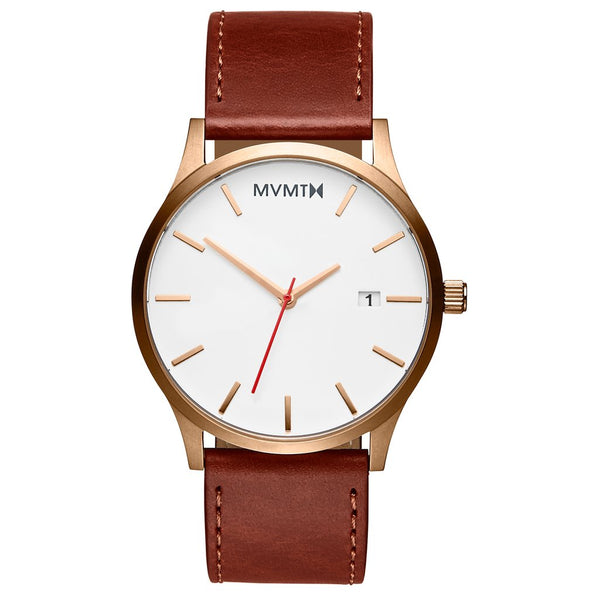 MVMT-Mens Classic Rose Gold Natural Tan 45 mm-Watch-D-MM01-WBR-THE UNIT STORE