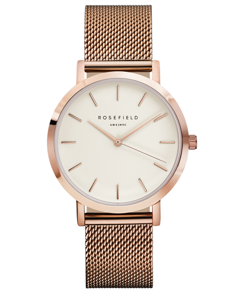 Rosefield The Mercer White Rose Gold RF-MWR-M42
