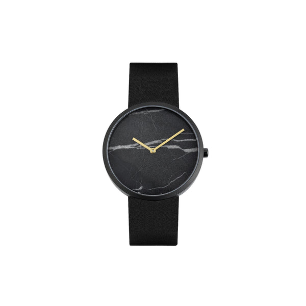 Maven Midnight City Black/Black/Black Leather/40mm WU MV1002MBKGBK