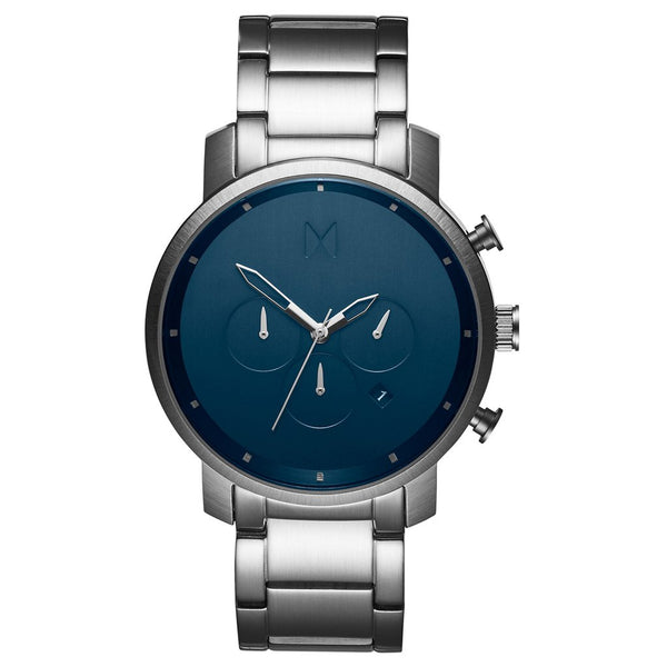 MVMT-Mens Chrono Midnight Silver 45 mm-Watch-D-MC01-SBLU-THE UNIT STORE