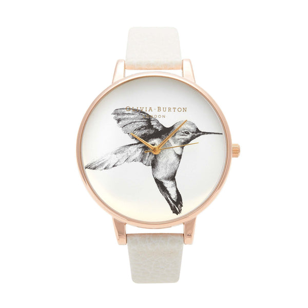 Animal Motif Hummingbird Mink & Rose Gold