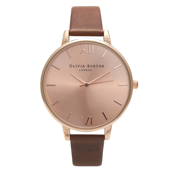 OLIVIA BURTON-Big Dial Brown & Rose Gold-Watch-OB13BD10-THE UNIT STORE