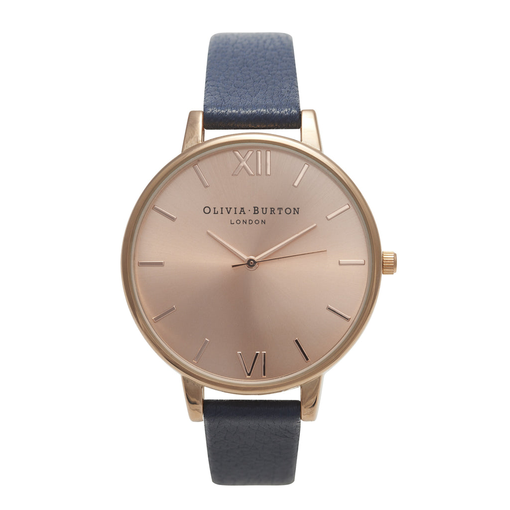 OLIVIA BURTON-Big Dial Navy & Rose Gold-Watch-OB13BD13B-THE UNIT STORE