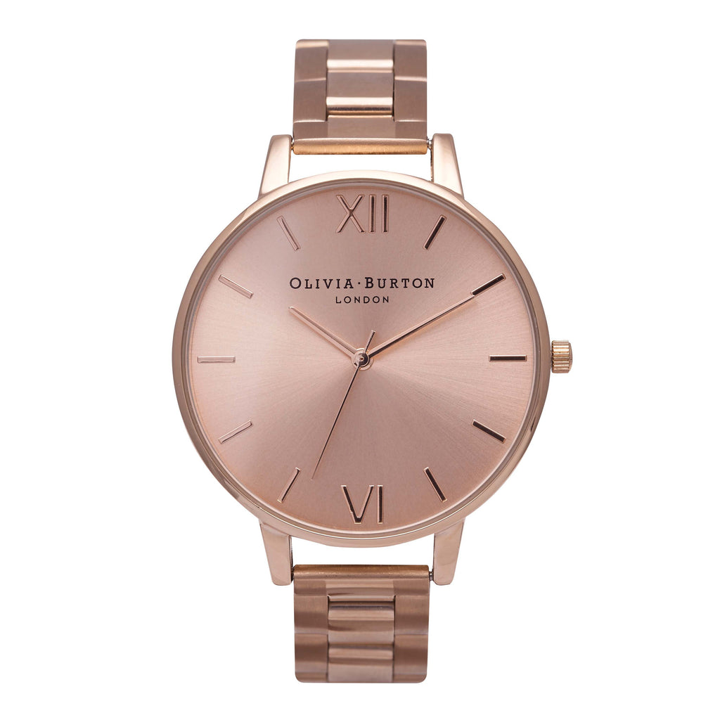 OLIVIA BURTON-Big Dial Bracelets Rose Gold-Watch-OB13BL07BS-THE UNIT STORE
