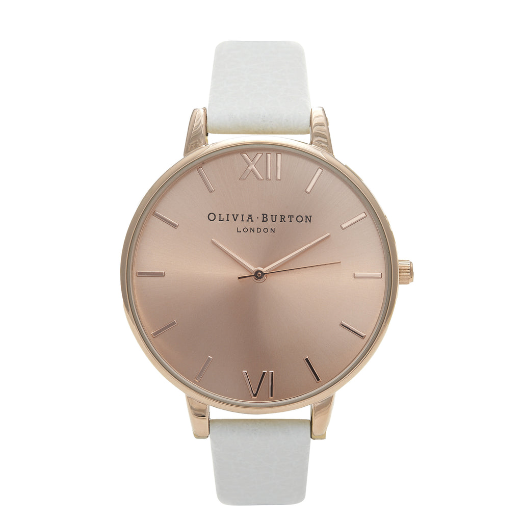 OLIVIA BURTON-Big Dial White & Rose-Watch-OB14BD53-THE UNIT STORE