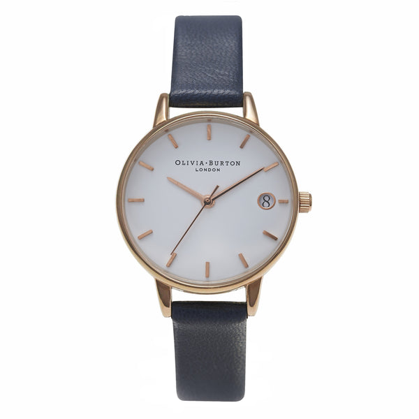 OLIVIA BURTON-The Dandy Navy & Rose Gold-Watch-OB14WF04-THE UNIT STORE