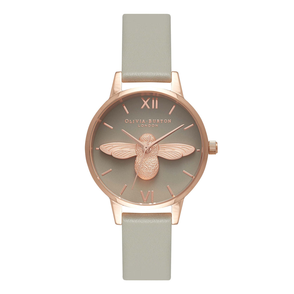 Animal Motif Midi Moulded Bee Rose Gold